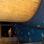 Runde 6 km Kabel wurden innerhalb einer Nacht auf die Kabeltrommel der Barge gewickelt.